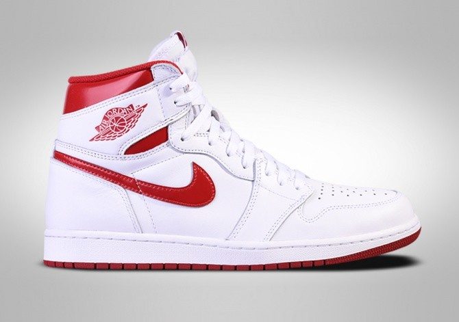 Nike Air Jordan 1 Retro High OG Metallic Red White NWT