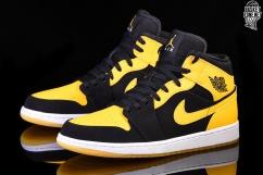nike air jordan 1 zwart geel