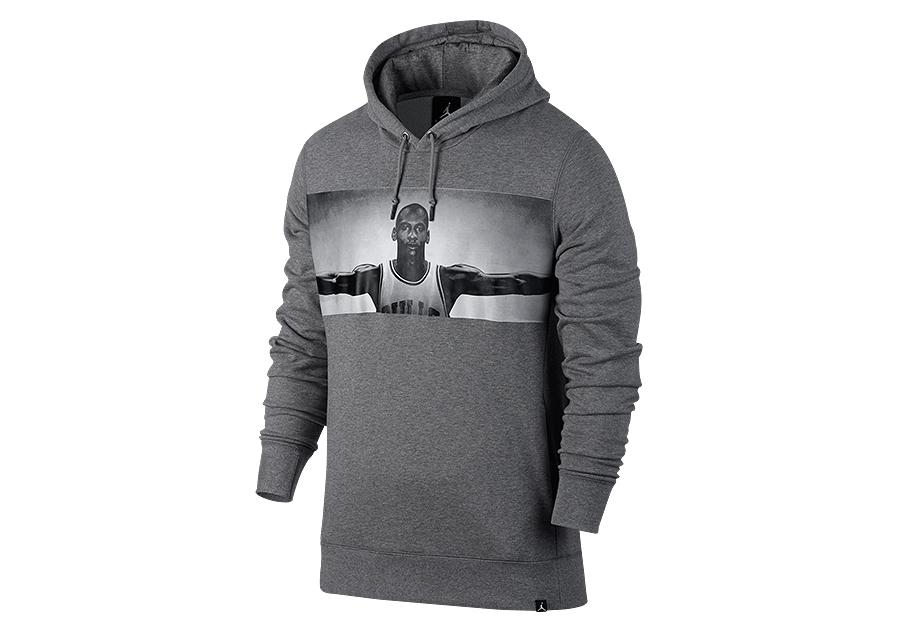 nike air jordan sportswear legend flight lite hoodie carbon