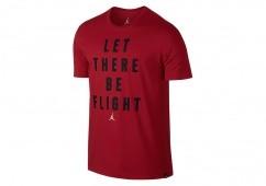 NIKE AIR JORDAN SPORTSWEAR FLIGHT TEE GYM RED