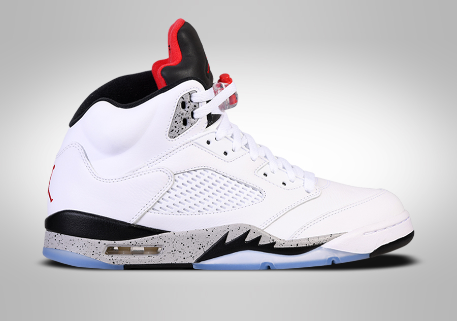 NIKE AIR JORDAN 5 RETRO WHITE CEMENT BG