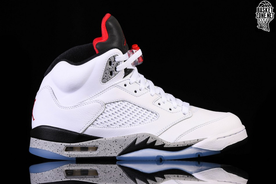 NIKE AIR JORDAN 5 RETRO WHITE CEMENT