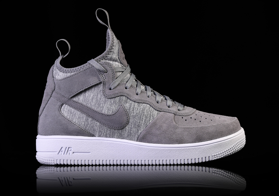 nike air force 1 ultraforce mid prm cool grey price 107. Black Bedroom Furniture Sets. Home Design Ideas