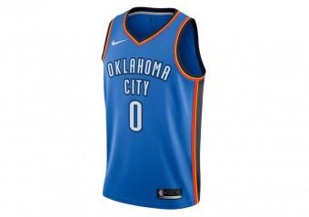 NIKE NBA OKLAHOMA CITY THUNDER ROAD SIGNAL BLUE
