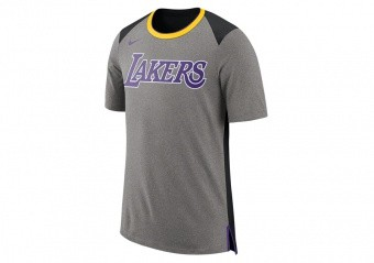 NIKE NBA LOS ANGELES LAKERS TOP FAN DK GREY HEATHER