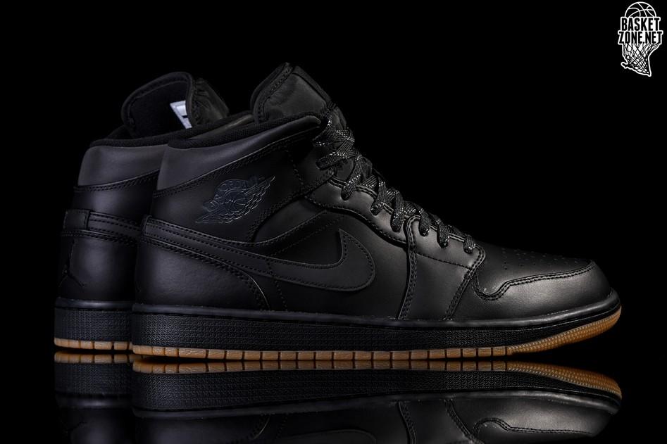 Black Jordan Retro Winterized Nike Pour Air 1 Mid KlFJT3c1