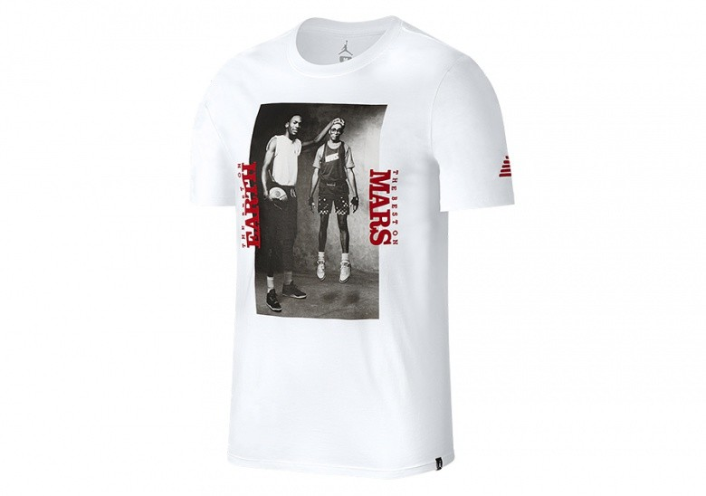 NIKE AIR JORDAN SPORTSWEAR MARS BLACKMON PHOTO TEE WHITE