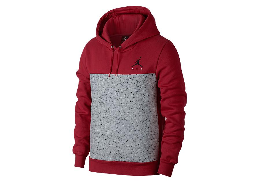 nike air jordan flight fleece cement pullover hoodie gym. Black Bedroom Furniture Sets. Home Design Ideas