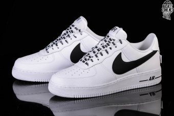 sports shoes 3aeed d9e18 NIKE AIR FORCE 1 '07 LV8 NBA PACK WHITE BLACK