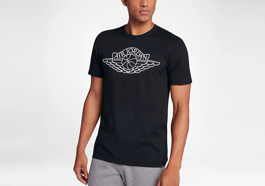 1232702545 NIKE AIR JORDAN SPORTSWEAR WINGS BRAND 5 TEE BLACK price €25.00 ...