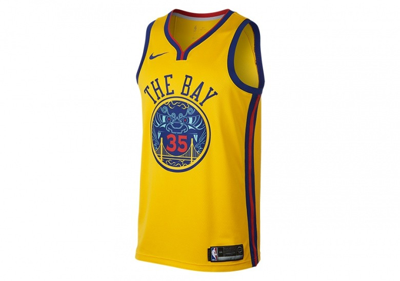 NIKE NBA KEVIN DURANT GOLDEN STATE WARRIORS CITY EDITION SWINGMAN JERSEY  AMARILLO 838138e5b