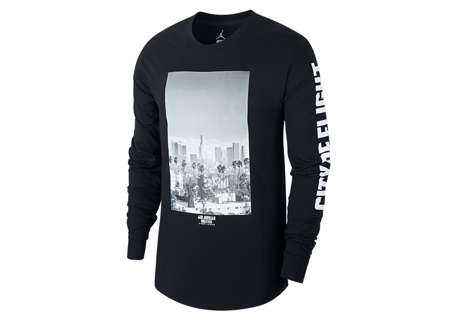 9da2dd715bcc NIKE AIR JORDAN SPORTWEAR  CITY OF FLIGHT  PHOTO LONG-SLEEVE TEE BLACK
