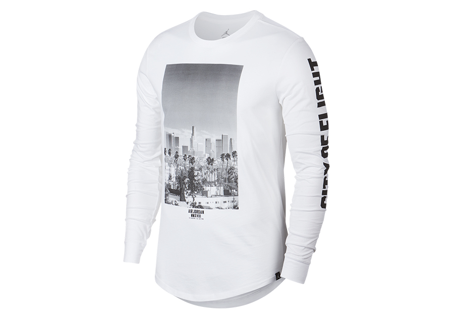 b9d8cbcc85b50c NIKE AIR JORDAN SPORTSWEAR CITY OF FLIGHT PHOTO LONG-SLEEVE TEE WHITE