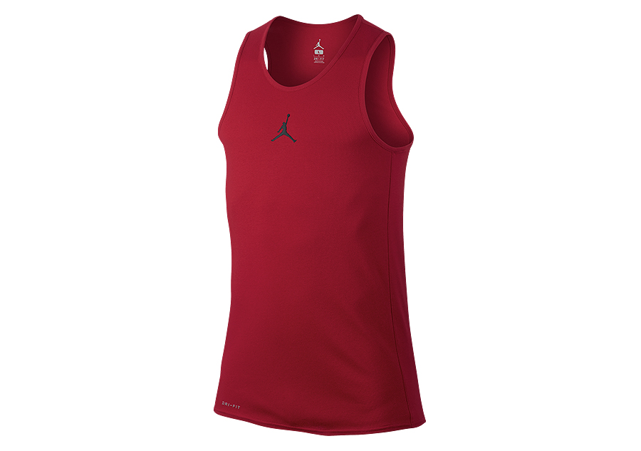 NIKE AIR JORDAN RISE DRI-FIT BASKETBALL TANK GYM RED