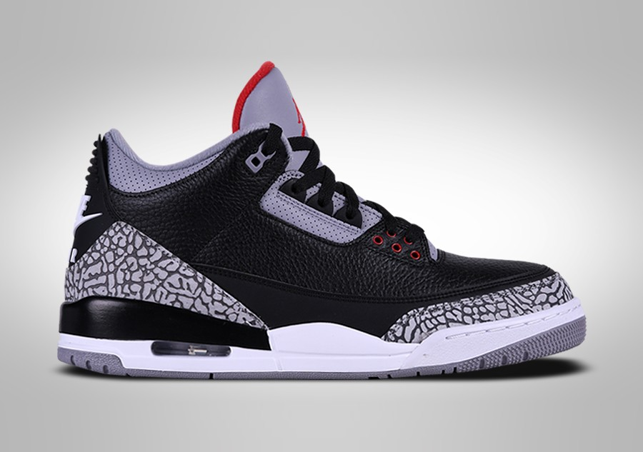 Danmark Nike Air Jordan 3 Retro Og Bg Sort Cement Sko Sort