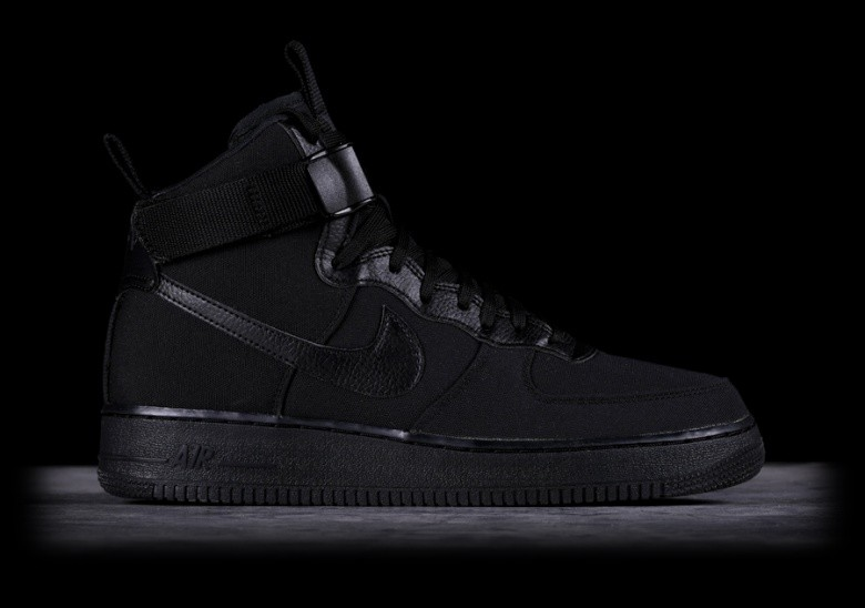 new product a2f02 fd445 NIKE AIR FORCE 1 HIGH  07 CANVAS BLACK