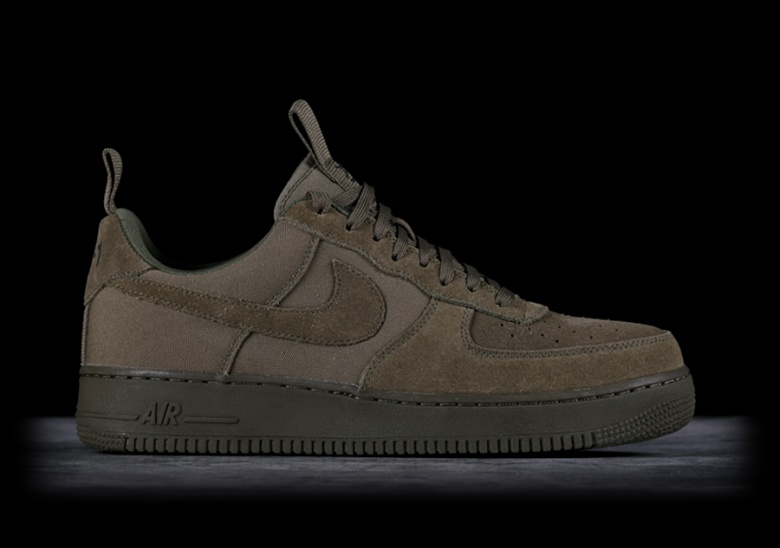 NIKE AIR FORCE 1 '07 CANVAS MEDIUM OLIVE