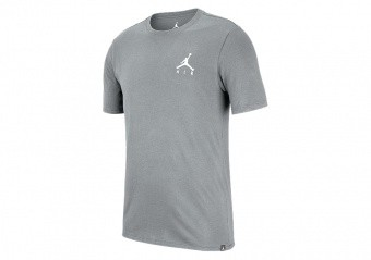 NIKE AIR JORDAN SPORTSWEAR JUMPMAN AIR EMBROIDERED TEE CARBON HEATHER