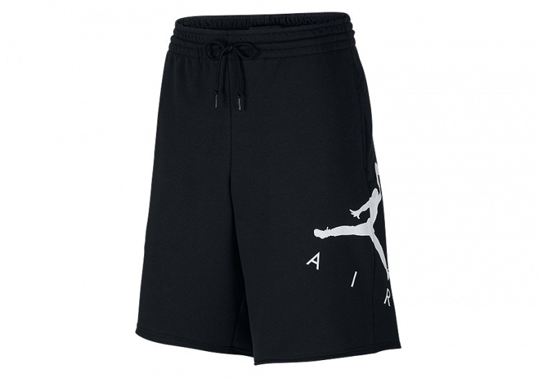 NIKE AIR JORDAN SPORTSWEAR JUMPMAN AIR GRAPHIC FLEECE SHORTS BLACK