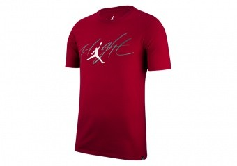 NIKE AIR JORDAN ICONIC FLIGHT TEE GYM RED
