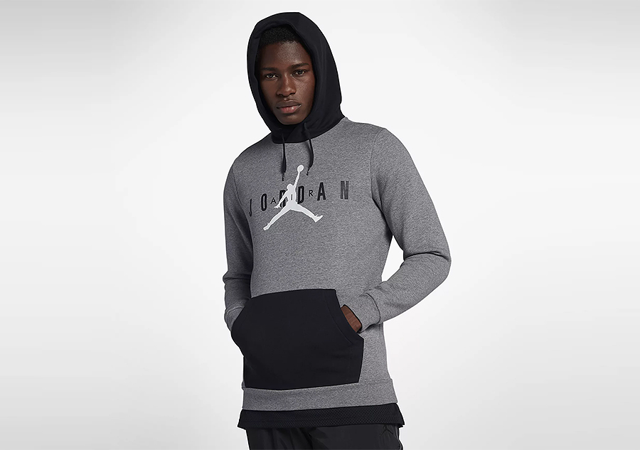 newest collection 01701 0170a NIKE AIR JORDAN SPORTSWEAR JUMPMAN AIR FLEECE PULLOVER CARBON HEATHER price  €72.50   Basketzone.net