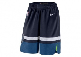 NIKE NBA MINNESOTA TIMBERWOLVES SWINGMAN ROAD SHORTS COLLEGE NAVY