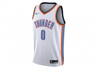 NIKE NBA OKLAHOMA CITY THUNDER RUSSELL WESTBROOK SWINGMAN HOME JERSEY WHITE