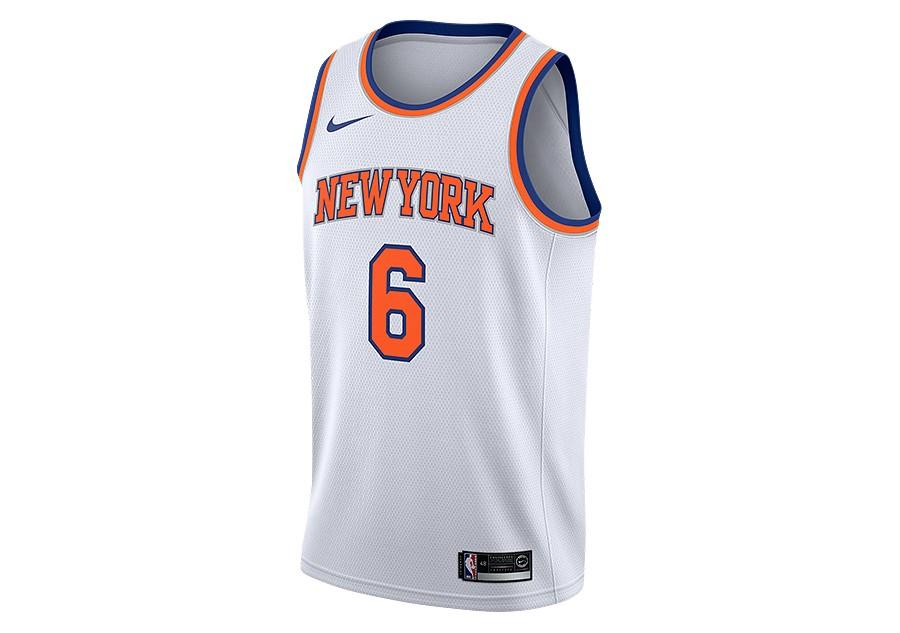 6e2a2257cca NIKE NBA NEW YORK KNICKS KRISTAPS PORZINGIS SWINGMAN HOME JERSEY WHITE
