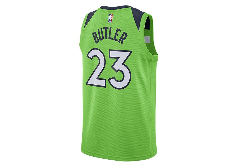 32352a151 NIKE NBA MINNESOTA TIMBERWOLVES JIMMY BUTLER SWINGMAN JERSEY ACTION GREEN