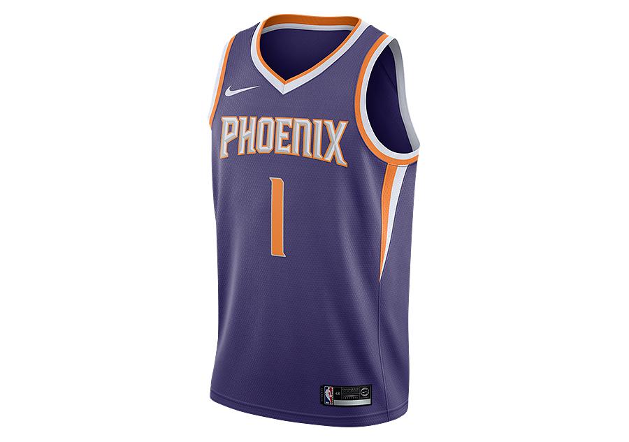 f53337b7eaa NIKE NBA PHOENIX SUNS DEVIN BOOKER SWINGMAN ROAD JERSEY NEW ORCHID price  €77.50