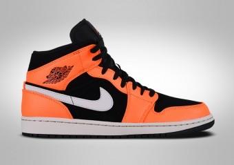 best sneakers 12b4f 4e014 NIKE AIR JORDAN 1 RETRO MID BLACK ORANGE