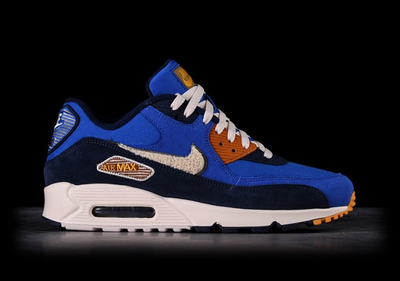best website 6d152 0736d NIKE AIR MAX 90 PREMIUM SE GAME ROYAL   LIGHT CREAM