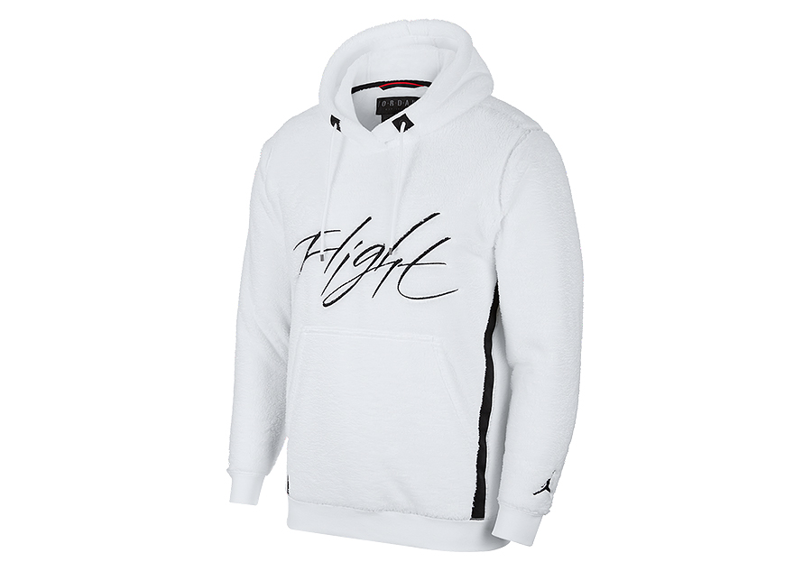 NIKE AIR JORDAN SPORTSWEAR WINGS OF FLIGHT HOODIE WHITE