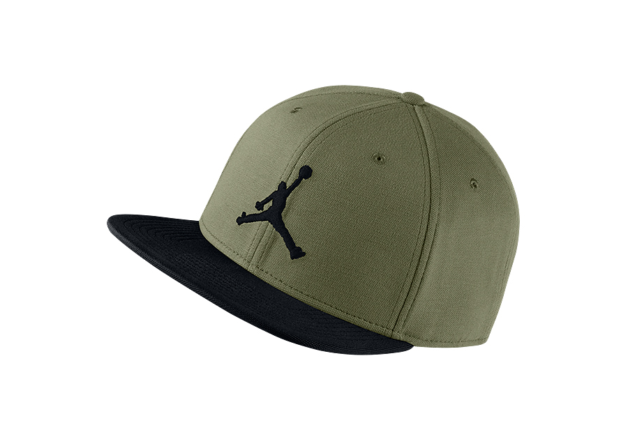 793b3703475d NIKE AIR JORDAN JUMPMAN SNAPBACK HAT OLIVE CANVAS BLACK price €25.00 ...