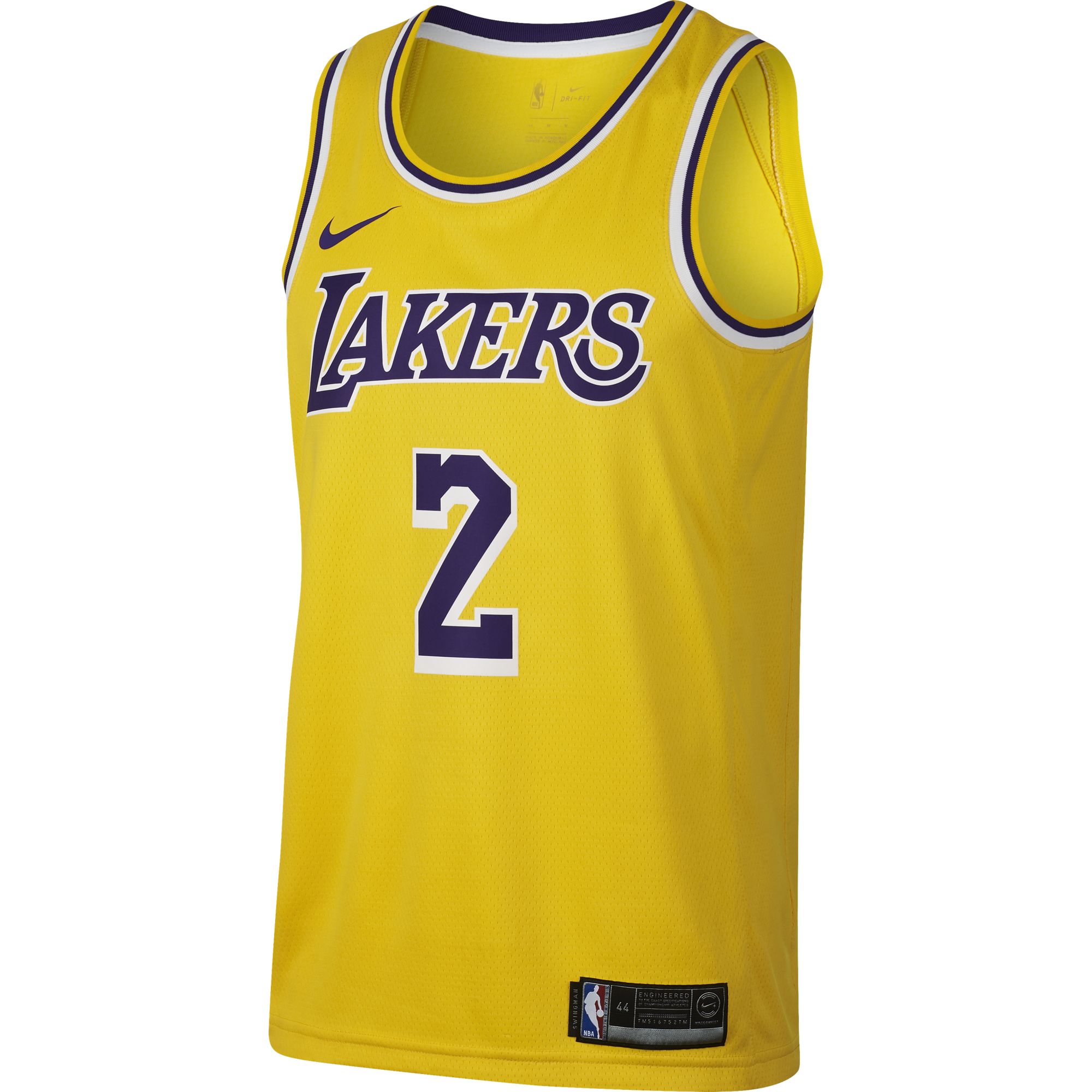 f0f610fc NIKE NBA LOS ANGELES LAKERS LONZO BALL SWINGMAN ROAD JERSEY for ...