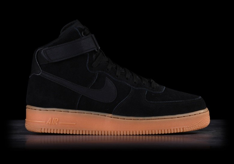 NIKE AIR FORCE 1 HIGH '07 LV8 SUEDE BLACK