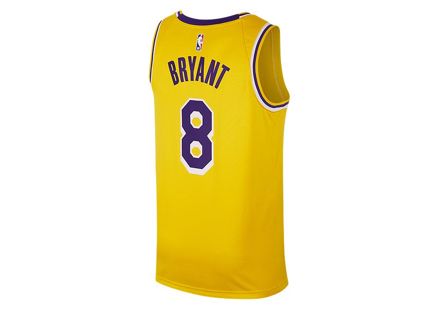 NIKE NBA LOS ANGELES LAKERS KOBE BRYANT SWINGMAN ROAD JERSEY AMARILLO 081ea87ae