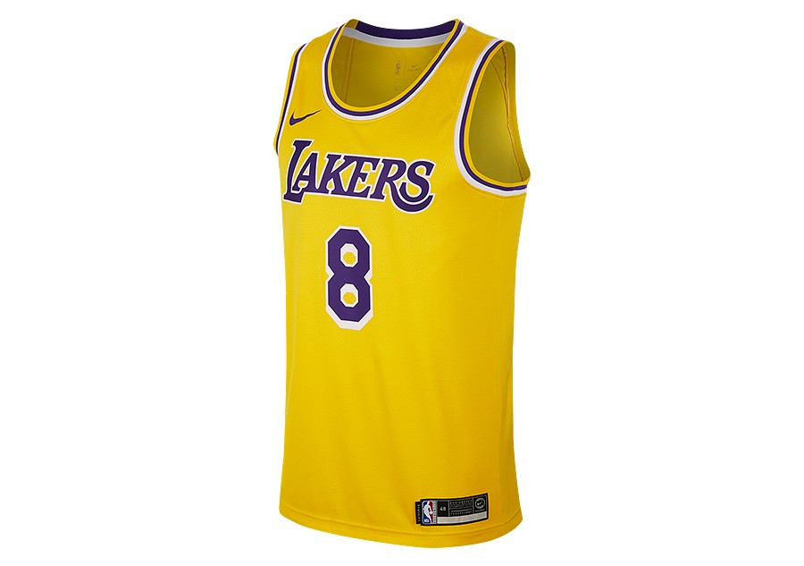 4596a6fe2eb1 NIKE NBA LOS ANGELES LAKERS KOBE BRYANT SWINGMAN ROAD JERSEY AMARILLO pour  €92
