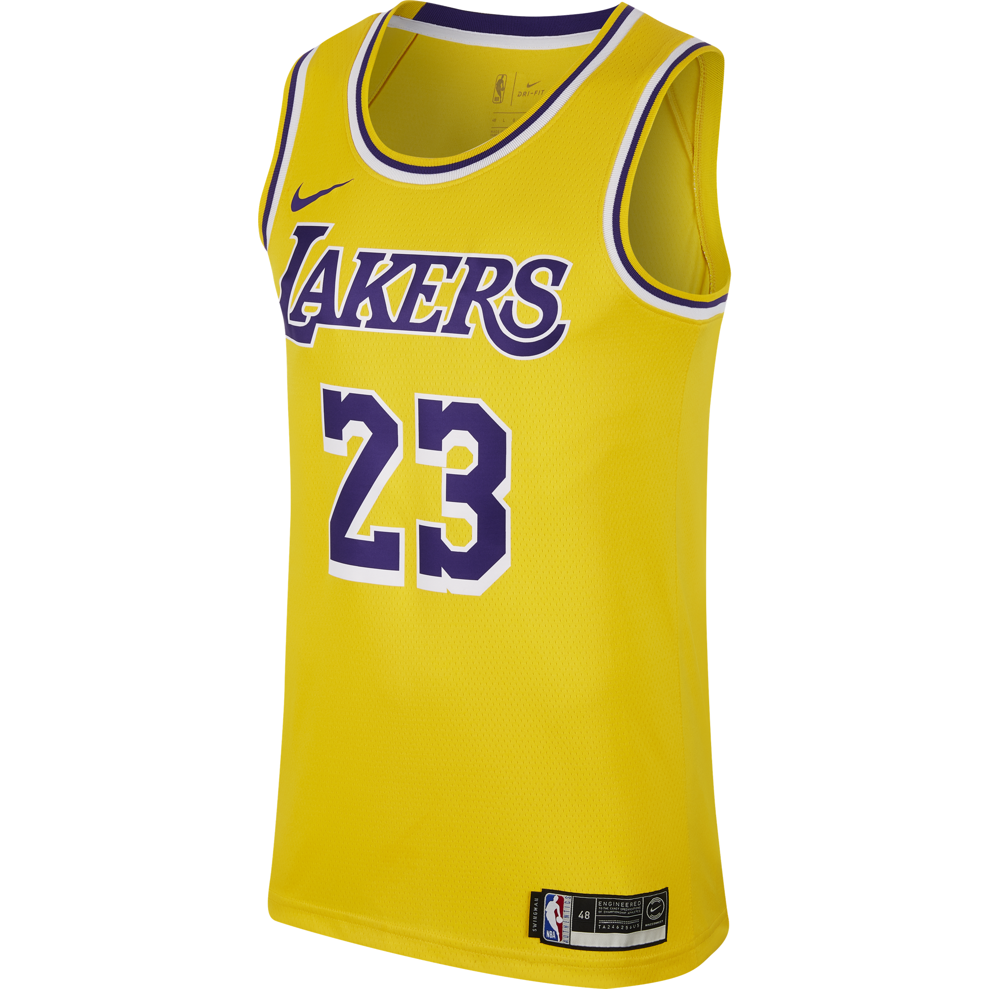 NIKE NBA LOS ANGELES LAKERS LEBRON JAMES SWINGMAN ROAD JERSEY