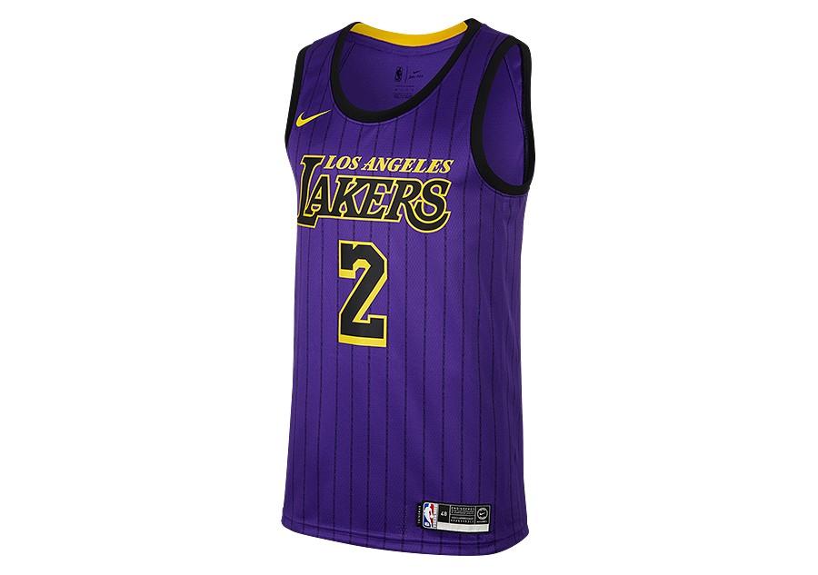 3aa3831fb NIKE NBA LOS ANGELES LAKERS LONZO BALL SWINGMAN JERSEY FIELD PURPLE ...