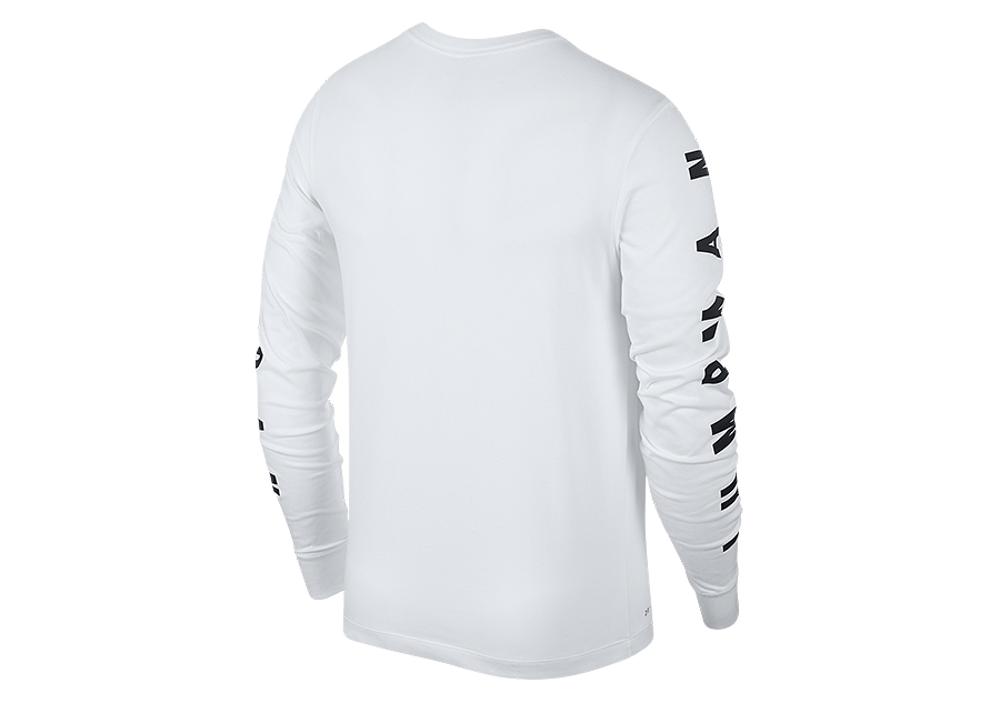 uk availability 3a48e f0f1a NIKE AIR JORDAN JBSK LONG-SLEEVE TEE WHITE