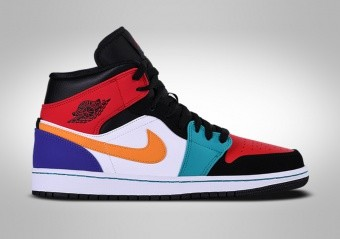 newest bfbb0 89733 BASKETBALL SHOES. NIKE AIR JORDAN 1 RETRO MID MULTICOLOR