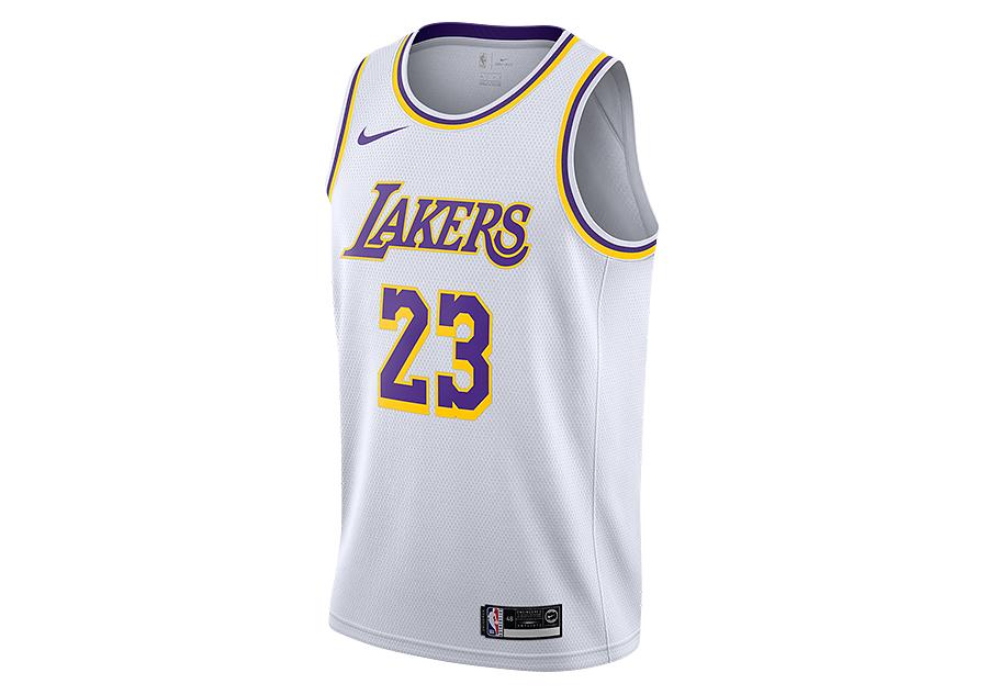 NIKE NBA LOS ANGELES LAKERS LEBRON JAMES SWINGMAN HOME JERSEY ...