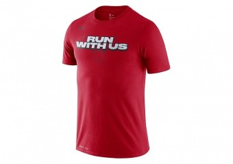 NIKE NBA CHICAGO BULLS MANTRA DRY TEE UNIVERSITY RED
