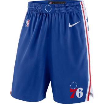 NIKE NBA PHILADELPHIA SWINGMAN SHORT ROAD