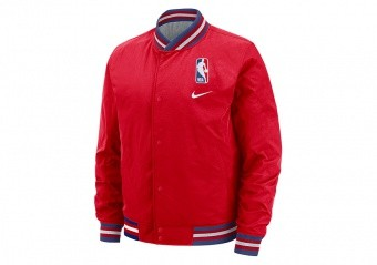 NIKE NBA N31 COURTSIDE JACKET UNIVERSITY RED