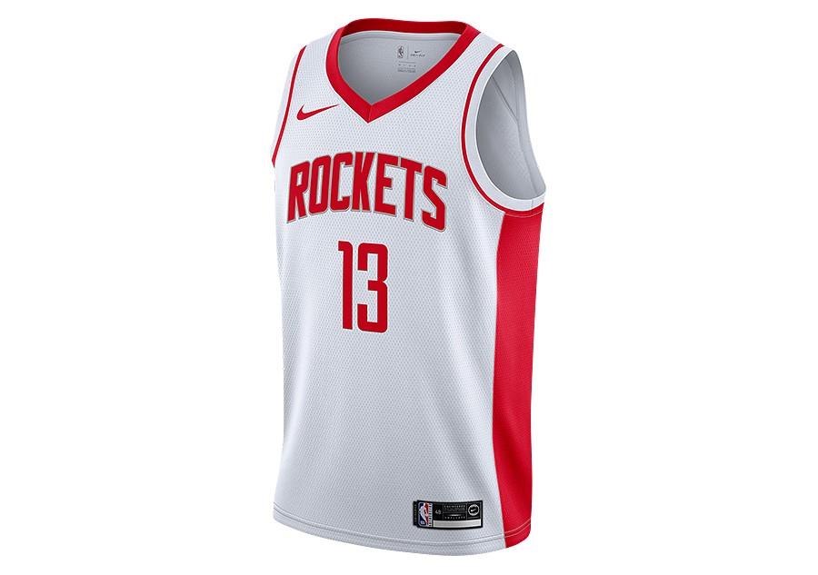 NIKE NBA HOUSTON ROCKETS JAMES HARDEN SWINGMAN HOME JERSEY WHITE ...