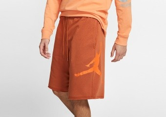 NIKE AIR JORDAN JUMPMAN FLEECE SHORTS DARK RUSSET