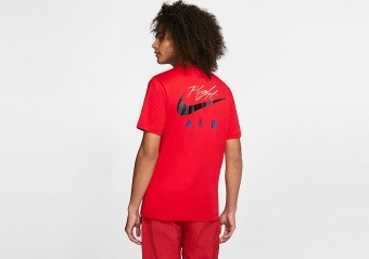 NIKE AIR JORDAN LEGACY AJ4 TEE UNIVERSITY RED
