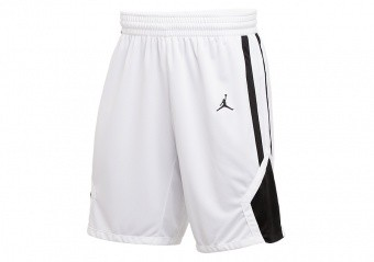 NIKE AIR JORDAN STOCK BASKETBALL SHORTS TEAM WHITE